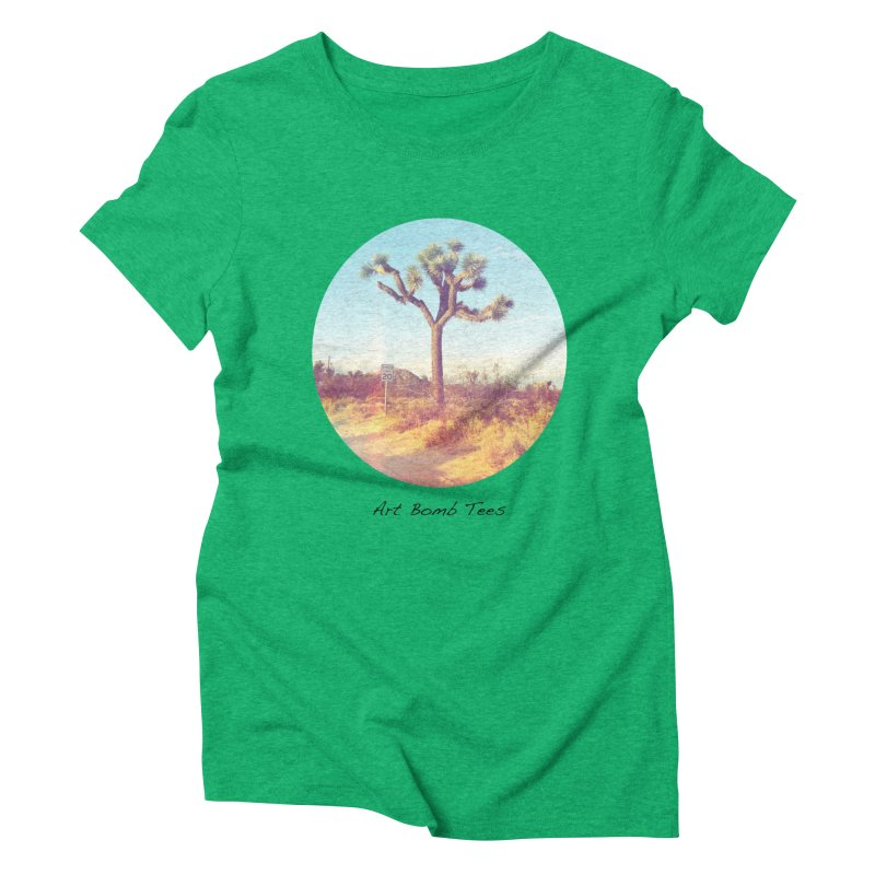 Desert Roads - Circular Women's Triblend T-shirt by artbombtees's Artist Shop