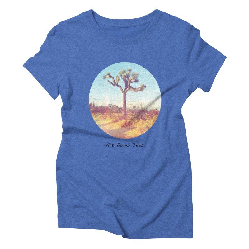 Desert Roads - Circular Women's Triblend T-Shirt by artbombtees's Artist Shop