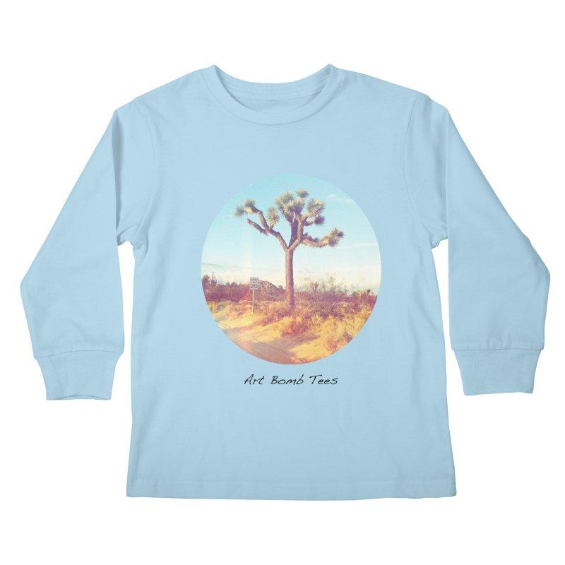 Desert Roads - Circular Kids Longsleeve T-Shirt by artbombtees's Artist Shop