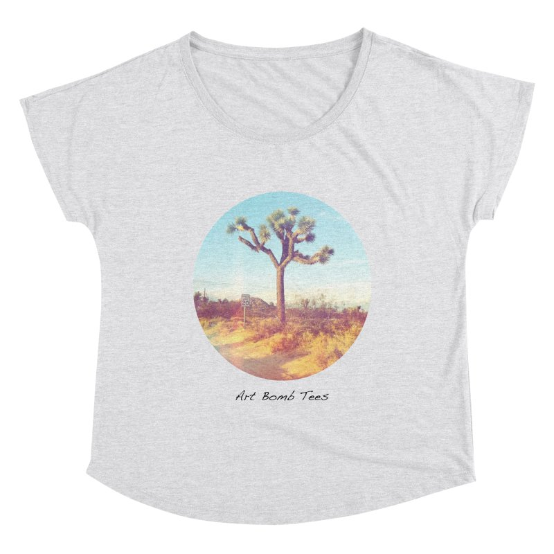 Desert Roads - Circular Women's Scoop Neck by artbombtees's Artist Shop