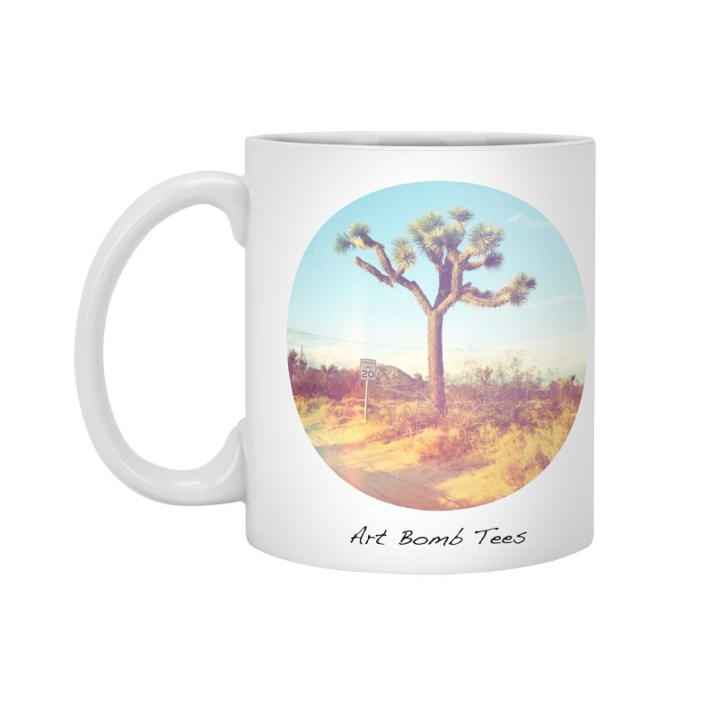 Desert Roads - Circular Accessories Mug by artbombtees's Artist Shop