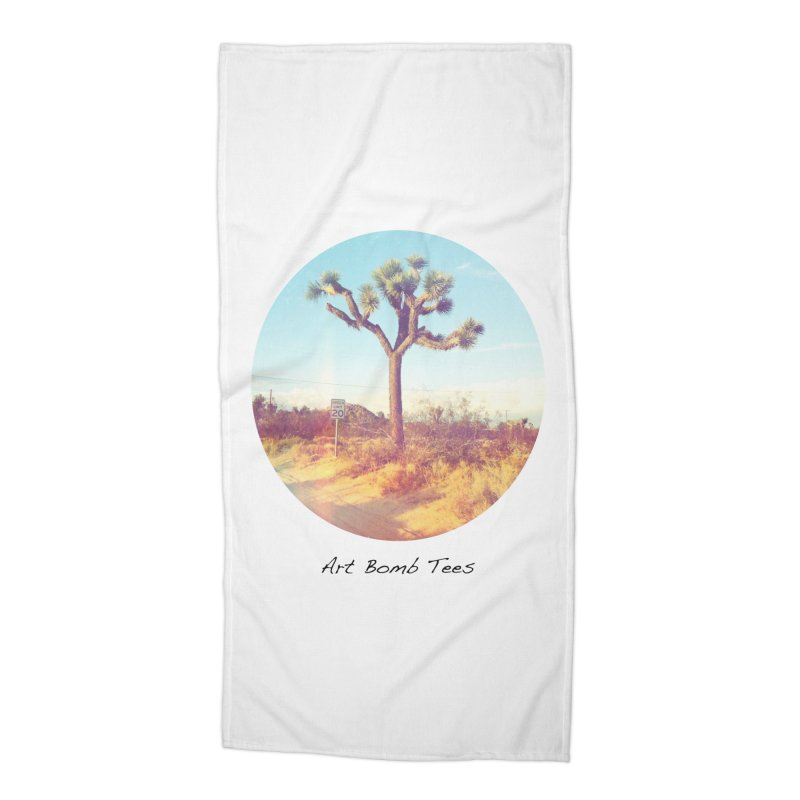 Desert Roads - Circular Accessories Beach Towel by artbombtees's Artist Shop