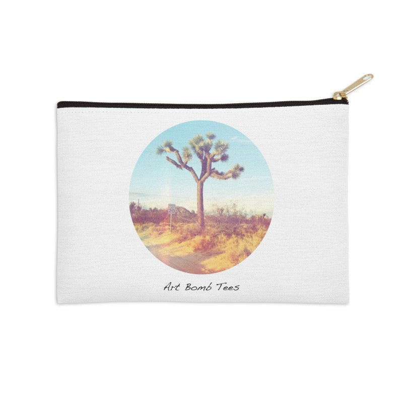 Desert Roads - Circular Accessories Zip Pouch by artbombtees's Artist Shop