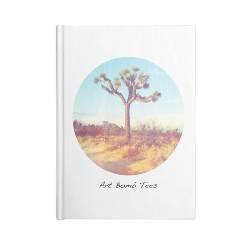 Desert Roads - Circular Accessories Lined Journal Notebook by artbombtees's Artist Shop
