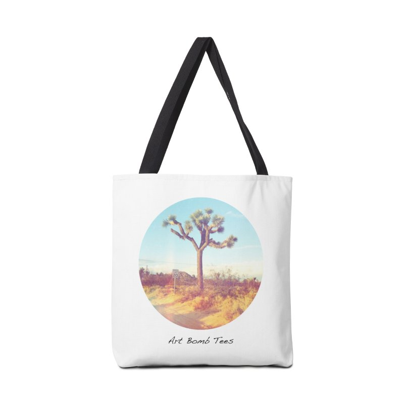 Desert Roads - Circular Accessories Tote Bag Bag by artbombtees's Artist Shop