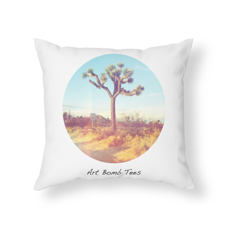 Desert Roads - Circular Home Throw Pillow by artbombtees's Artist Shop