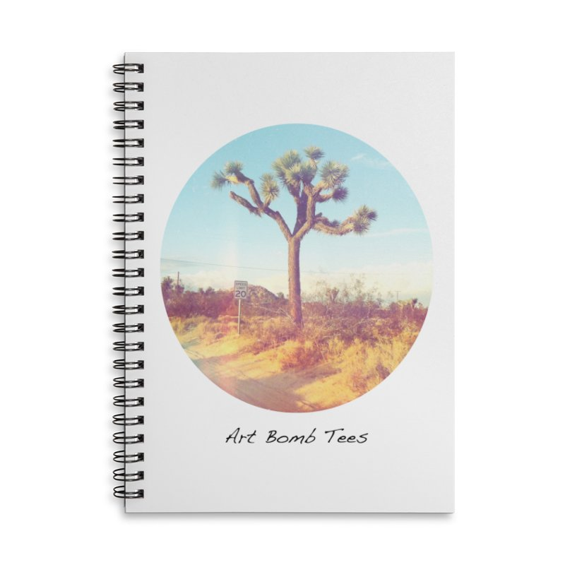 Desert Roads - Circular Accessories Lined Spiral Notebook by artbombtees's Artist Shop