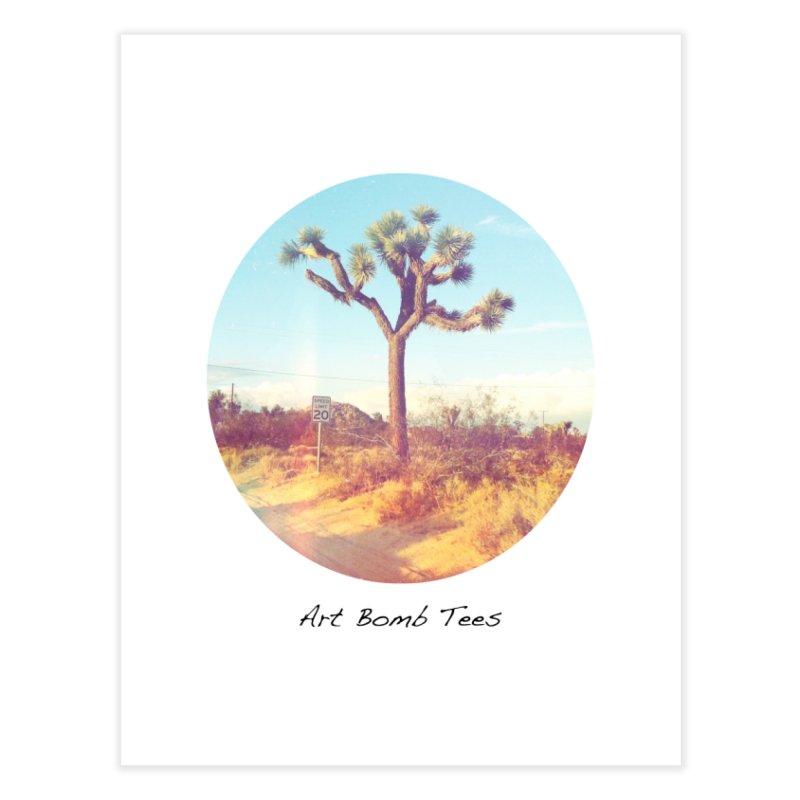 Desert Roads - Circular Home Fine Art Print by artbombtees's Artist Shop