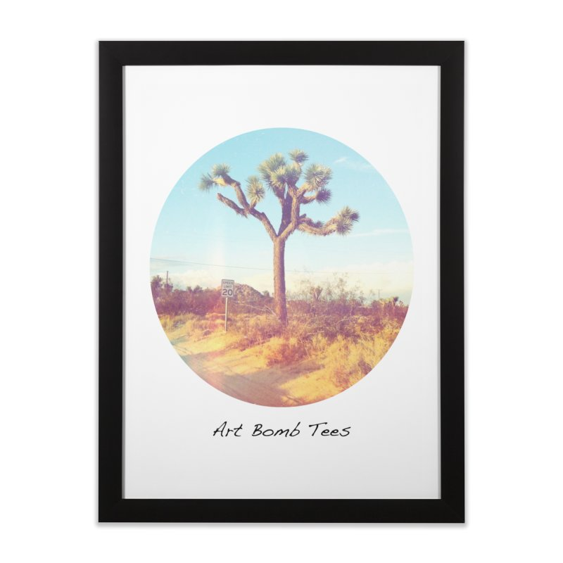 Desert Roads - Circular Home Framed Fine Art Print by artbombtees's Artist Shop
