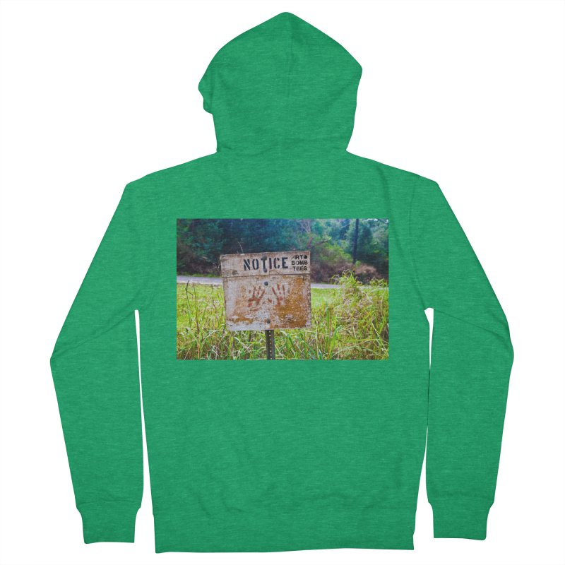Notice: Art Bomb Tees Women's French Terry Zip-Up Hoody by artbombtees's Artist Shop