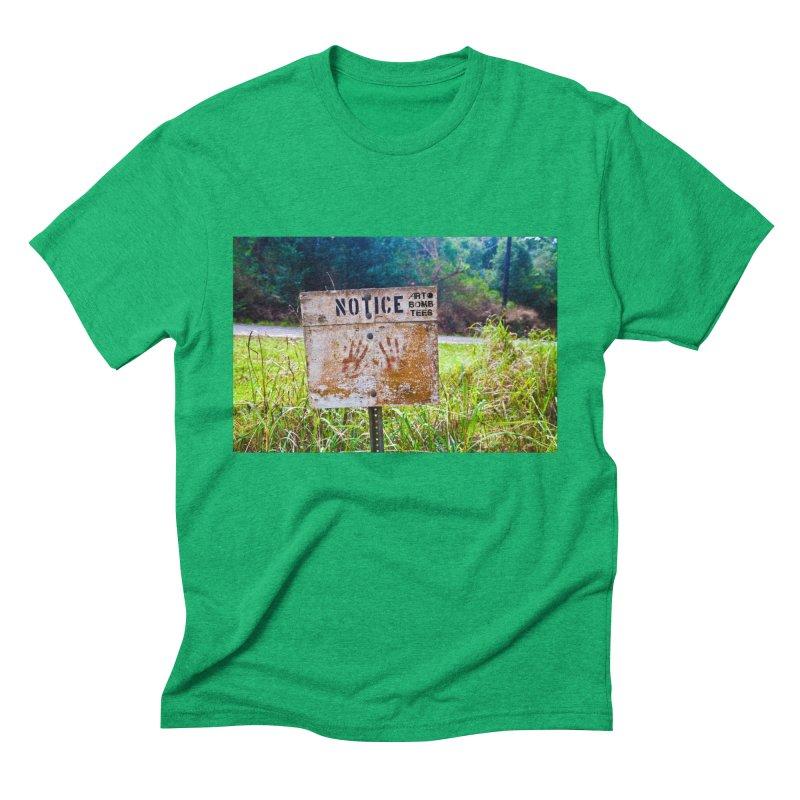 Notice: Art Bomb Tees Men's Triblend T-Shirt by artbombtees's Artist Shop