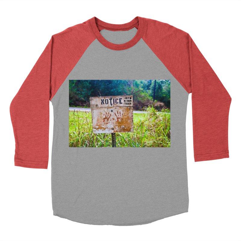 Notice: Art Bomb Tees Women's Baseball Triblend T-Shirt by artbombtees's Artist Shop