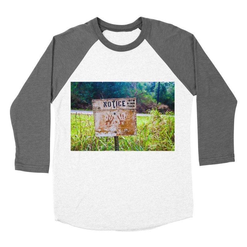 Notice: Art Bomb Tees Men's Baseball Triblend T-Shirt by artbombtees's Artist Shop