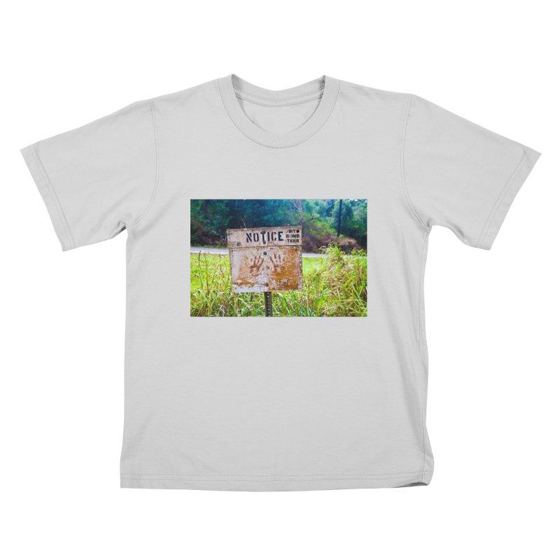 Notice: Art Bomb Tees Kids T-Shirt by artbombtees's Artist Shop