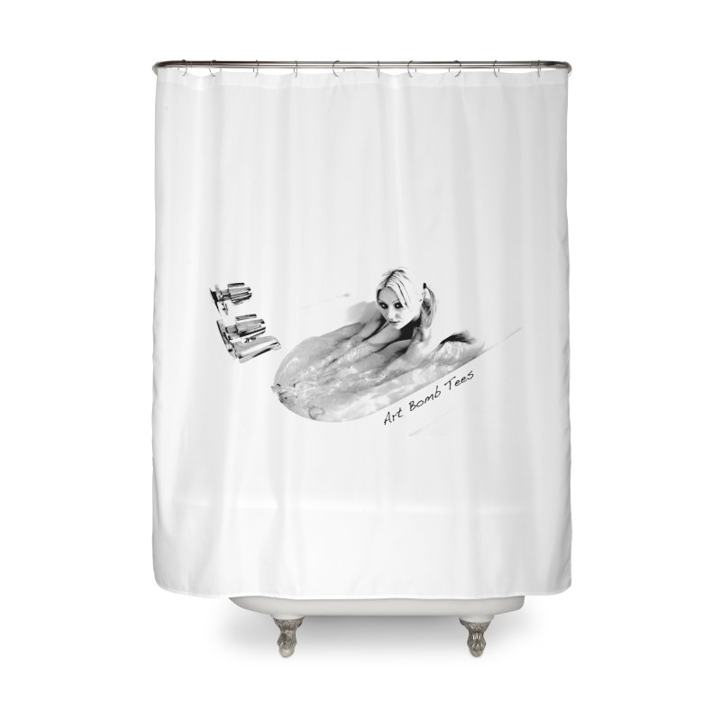 Squeaky Clean Home Shower Curtain by artbombtees's Artist Shop