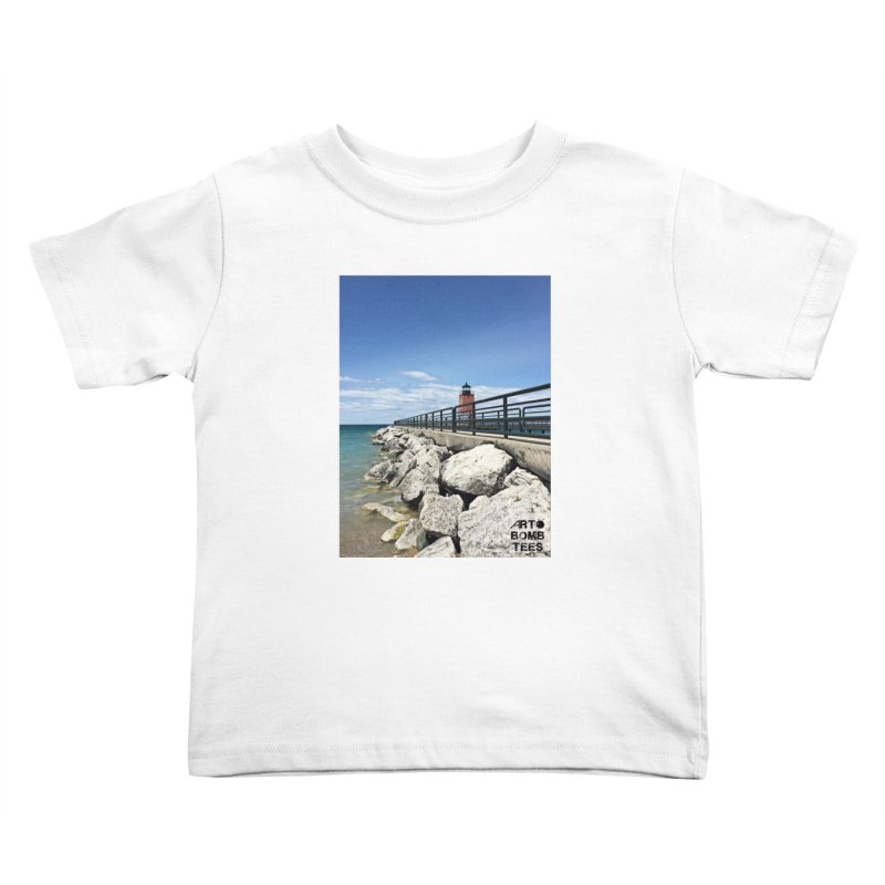Northern Lighthouse Kids Toddler T-Shirt by artbombtees's Artist Shop