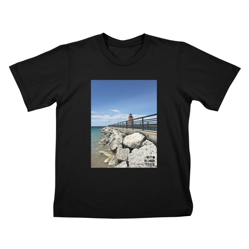 Northern Lighthouse Kids T-shirt by artbombtees's Artist Shop