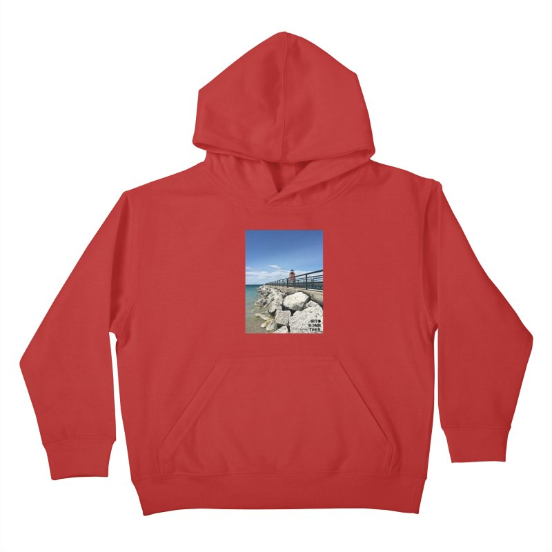 Northern Lighthouse Kids Pullover Hoody by artbombtees's Artist Shop