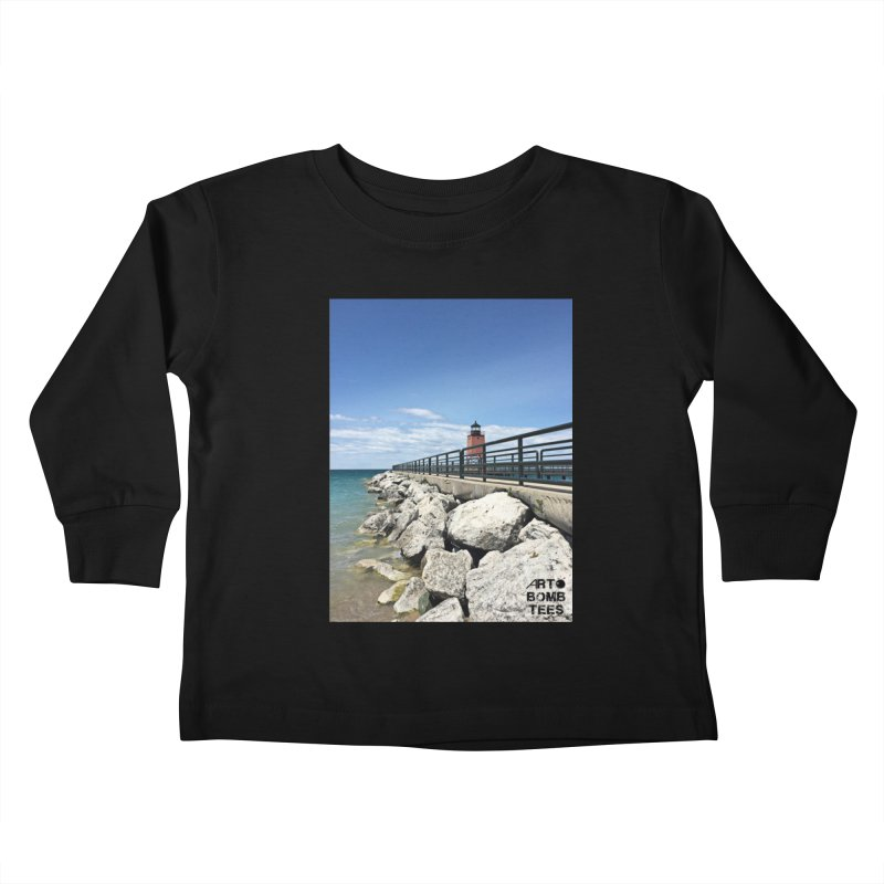 Northern Lighthouse Kids Toddler Longsleeve T-Shirt by artbombtees's Artist Shop