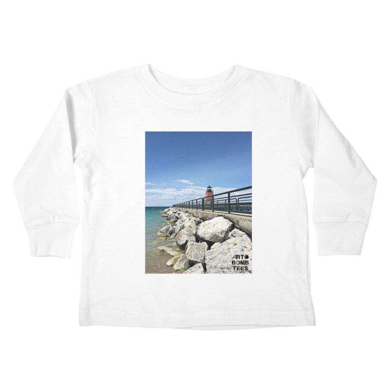 Northern Lighthouse Kids Toddler Longsleeve T-Shirt by artbombtees's Artist Shop