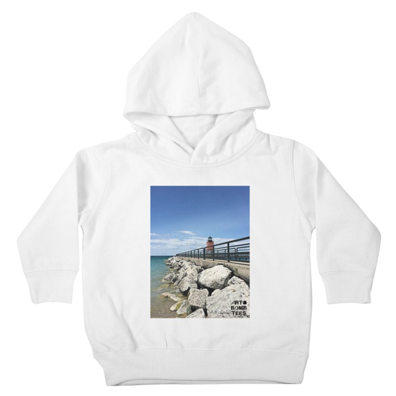 Northern Lighthouse Kids Toddler Pullover Hoody by artbombtees's Artist Shop