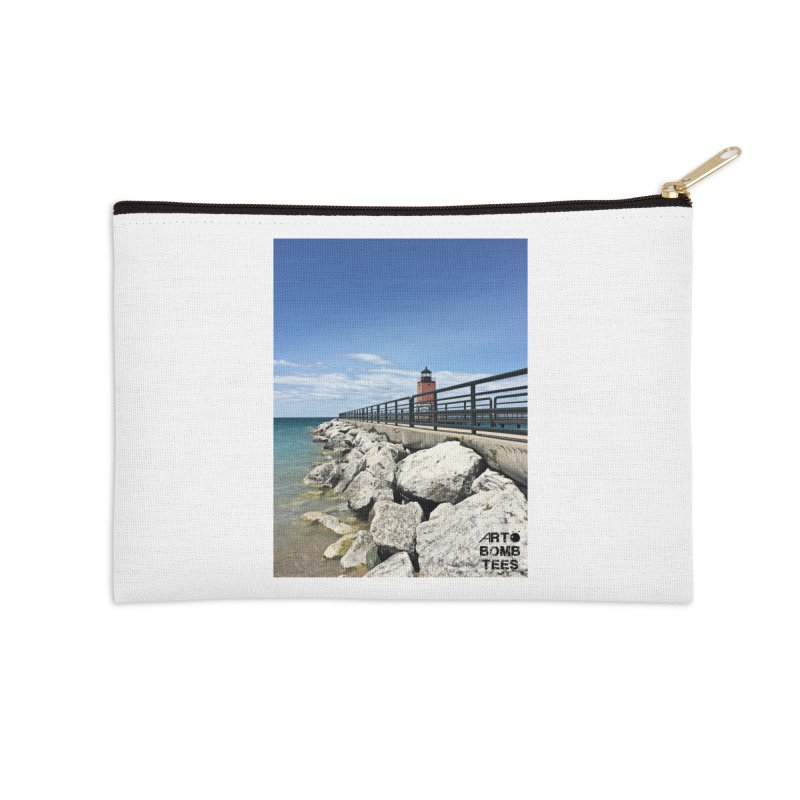 Northern Lighthouse Accessories Zip Pouch by artbombtees's Artist Shop