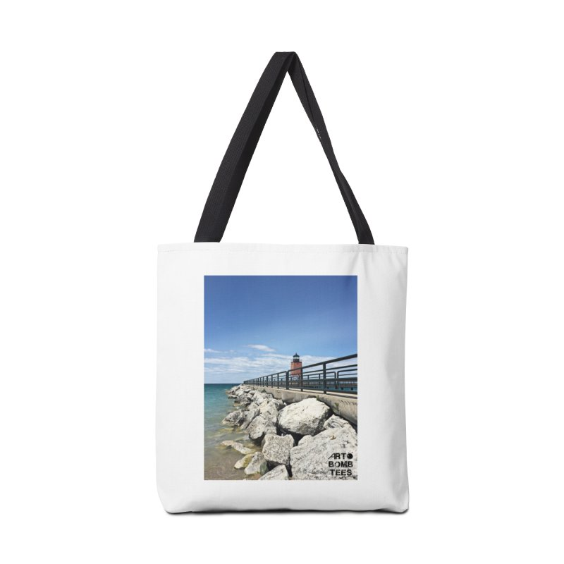 Northern Lighthouse Accessories Bag by artbombtees's Artist Shop