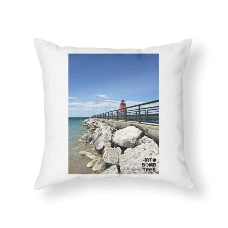 Northern Lighthouse Home Throw Pillow by artbombtees's Artist Shop