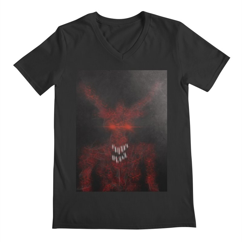 EVIL Men's Regular V-Neck by artbombtees's Artist Shop