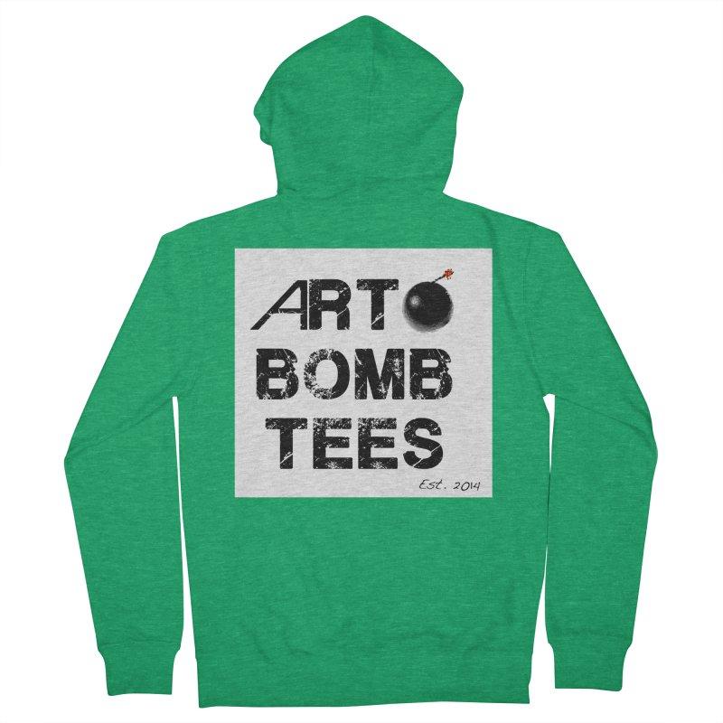 Art Bomb Tees Logo Shirt Women's French Terry Zip-Up Hoody by artbombtees's Artist Shop