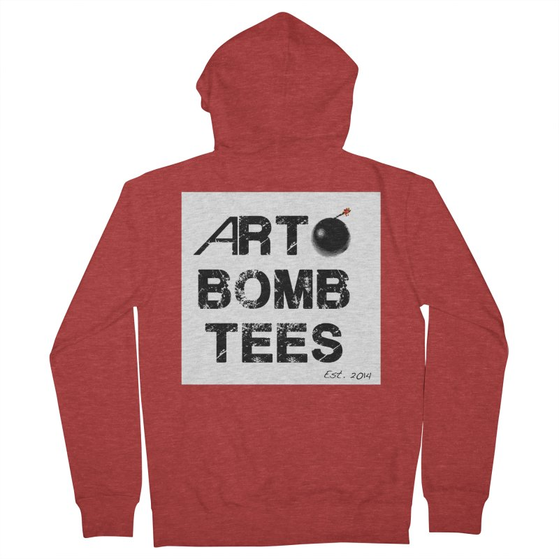 Art Bomb Tees Logo Shirt Women's French Terry Zip-Up Hoody by artbombtees's Artist Shop