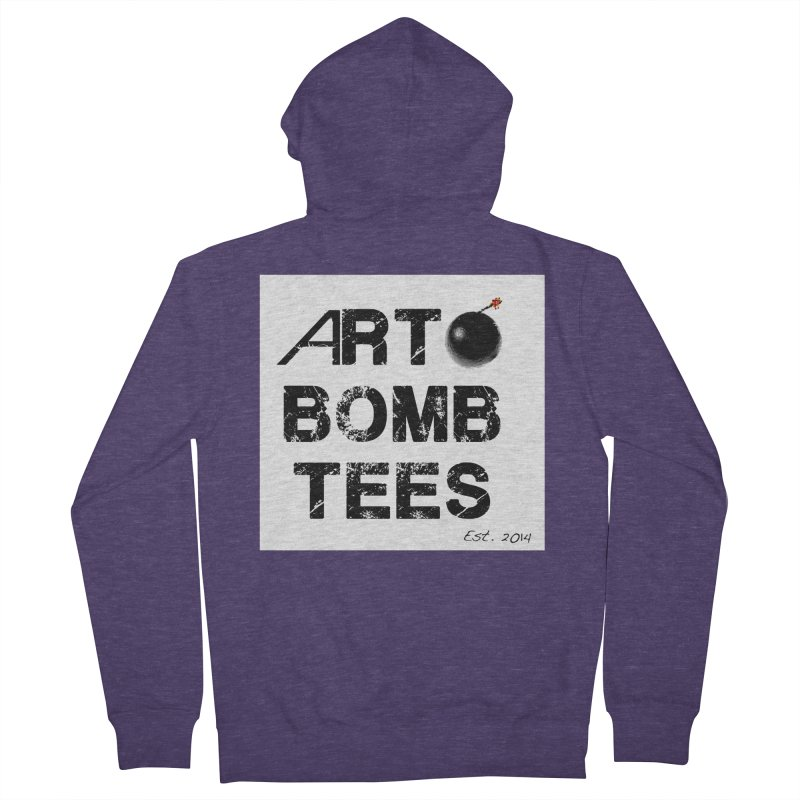 Art Bomb Tees Logo Shirt Men's French Terry Zip-Up Hoody by artbombtees's Artist Shop