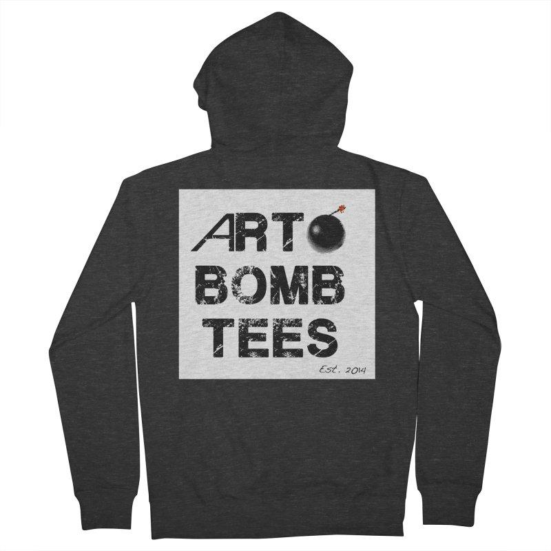 Art Bomb Tees Logo Shirt Men's French Terry Zip-Up Hoody by artbombtees's Artist Shop