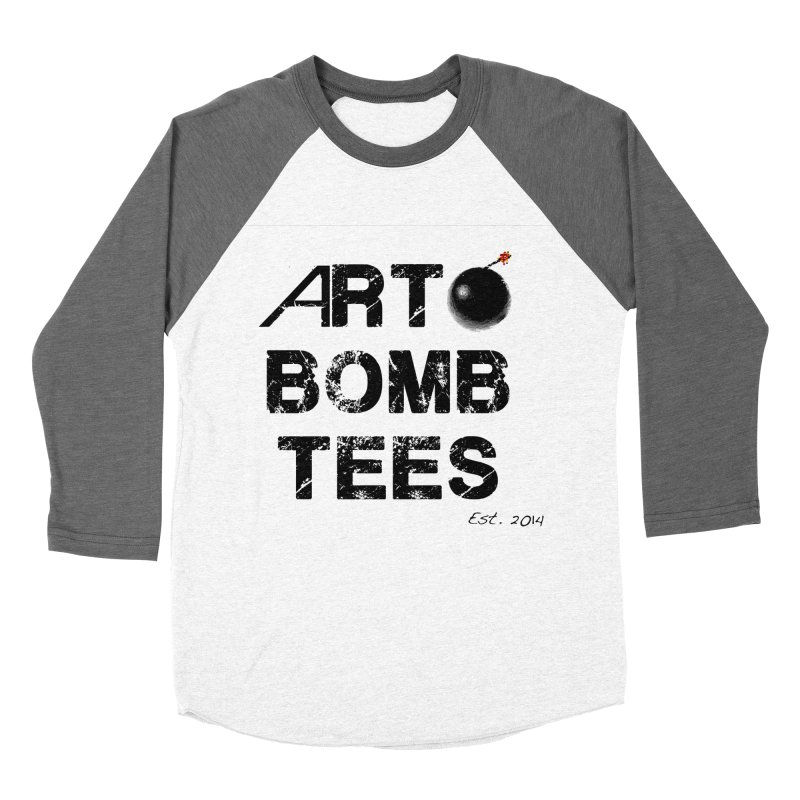 Art Bomb Tees Logo Shirt Women's Baseball Triblend T-Shirt by artbombtees's Artist Shop