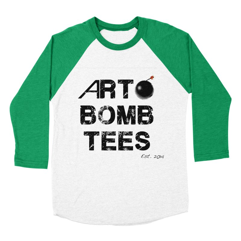 Art Bomb Tees Logo Shirt Men's Baseball Triblend T-Shirt by artbombtees's Artist Shop