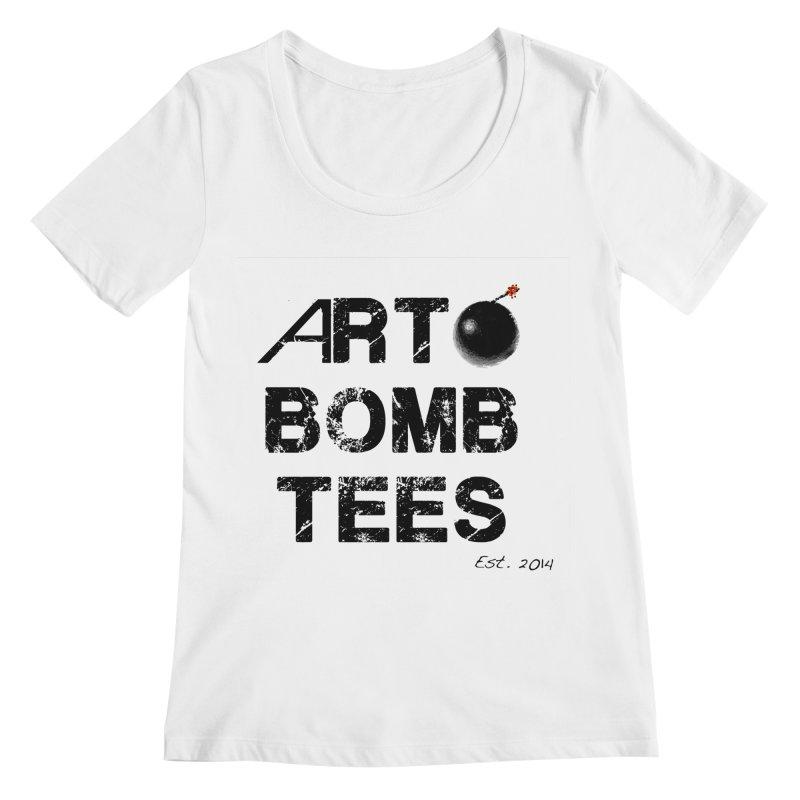 Art Bomb Tees Logo Shirt Women's Scoopneck by artbombtees's Artist Shop