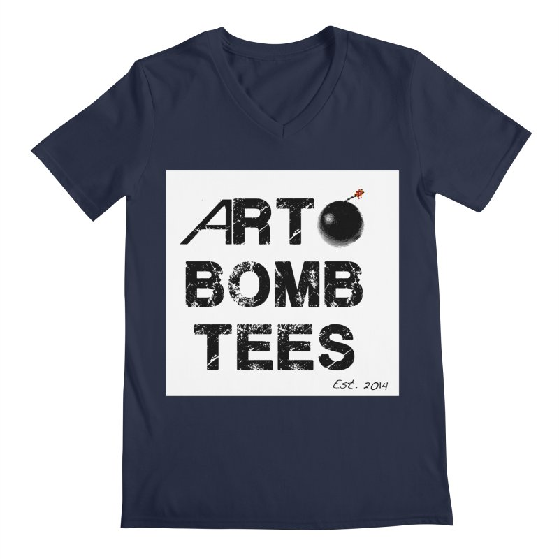 Art Bomb Tees Logo Shirt Men's Regular V-Neck by artbombtees's Artist Shop