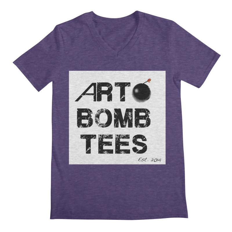 Art Bomb Tees Logo Shirt Men's V-Neck by artbombtees's Artist Shop