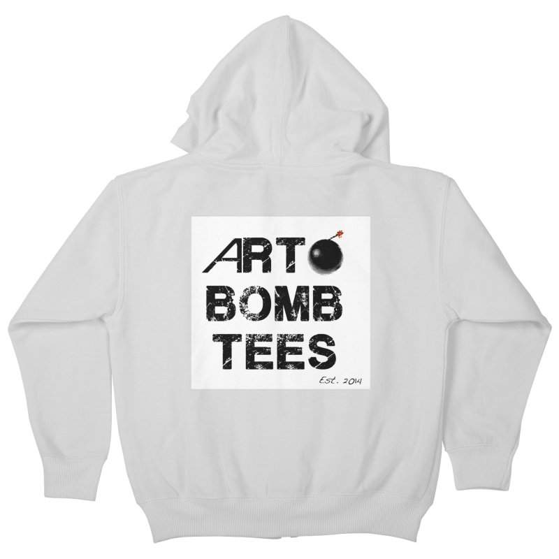 Art Bomb Tees Logo Shirt Kids Zip-Up Hoody by artbombtees's Artist Shop