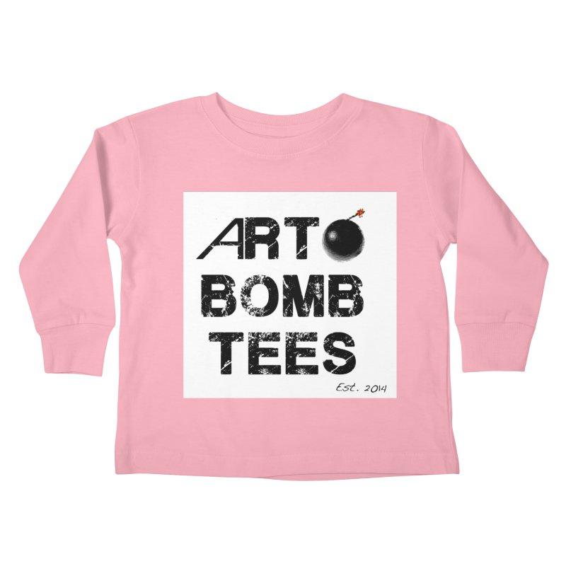 Art Bomb Tees Logo Shirt Kids Toddler Longsleeve T-Shirt by artbombtees's Artist Shop