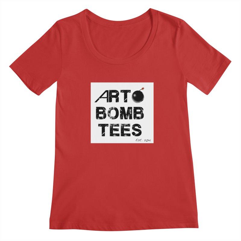 Art Bomb Tees Logo Shirt Women's Regular Scoop Neck by artbombtees's Artist Shop