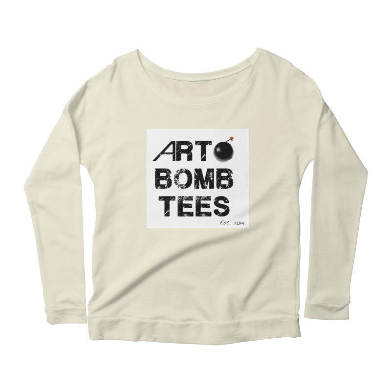 Art Bomb Tees Logo Shirt Women's Longsleeve Scoopneck  by artbombtees's Artist Shop