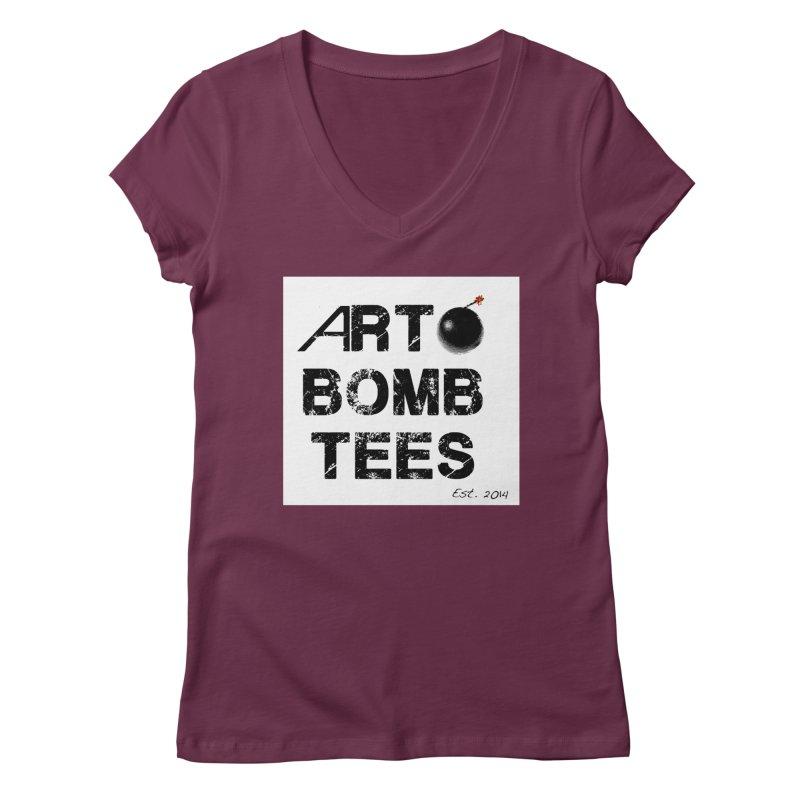 Art Bomb Tees Logo Shirt Women's Regular V-Neck by artbombtees's Artist Shop