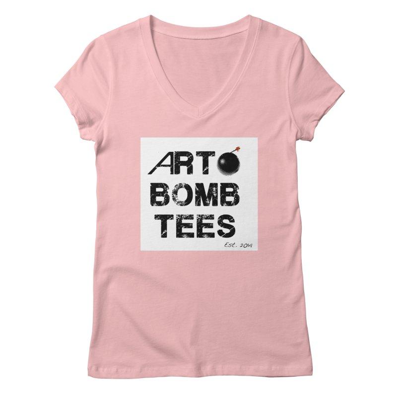 Art Bomb Tees Logo Shirt Women's V-Neck by artbombtees's Artist Shop