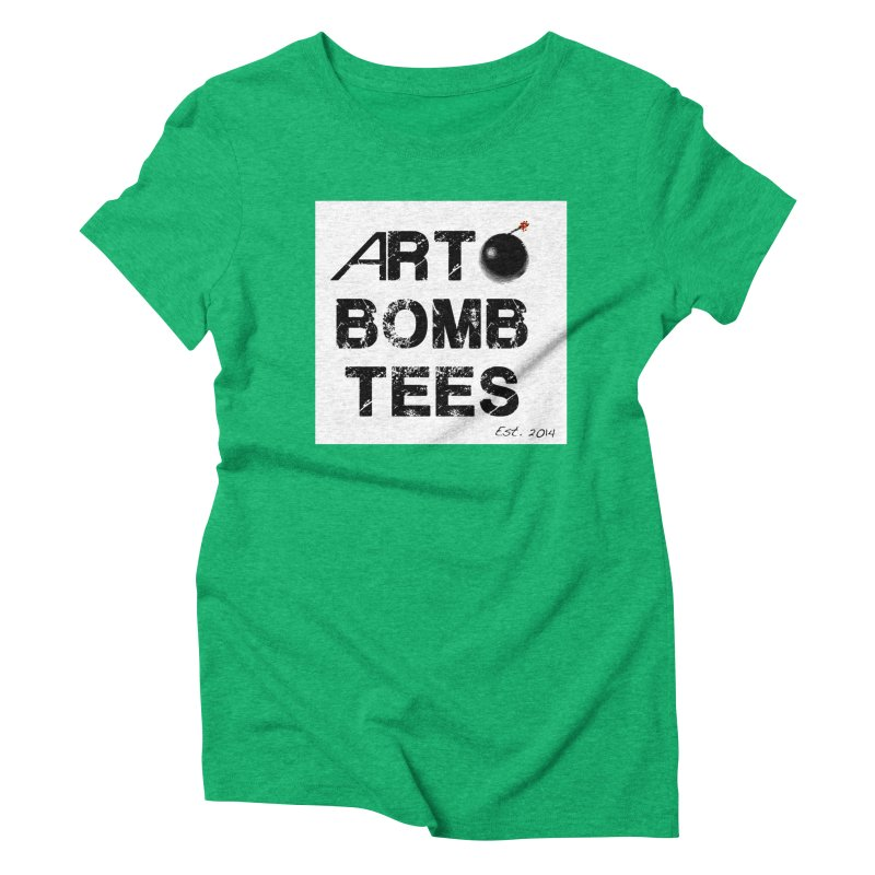 Art Bomb Tees Logo Shirt Women's Triblend T-Shirt by artbombtees's Artist Shop