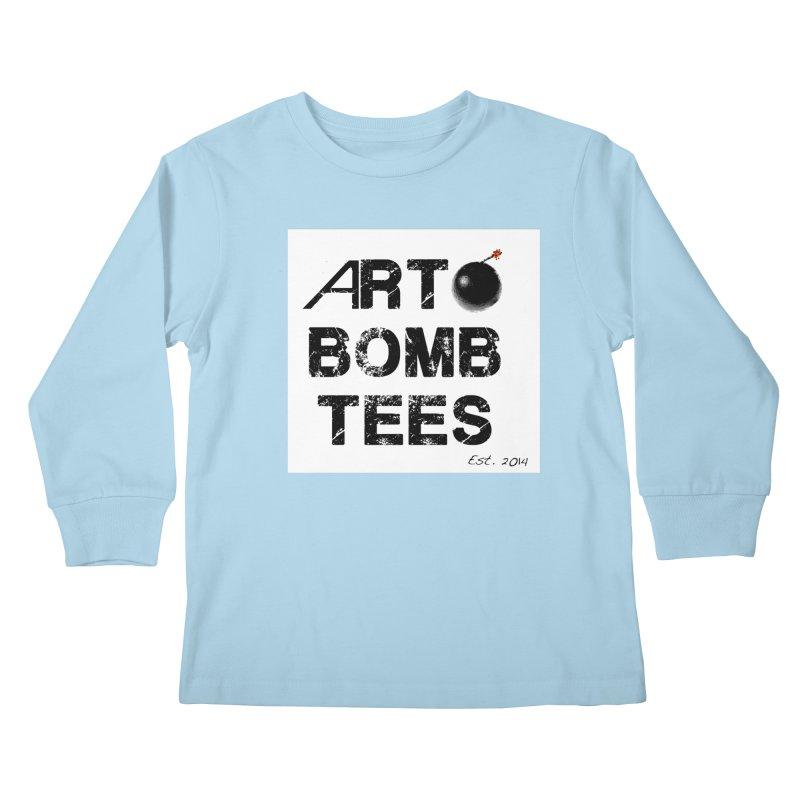 Art Bomb Tees Logo Shirt Kids Longsleeve T-Shirt by artbombtees's Artist Shop