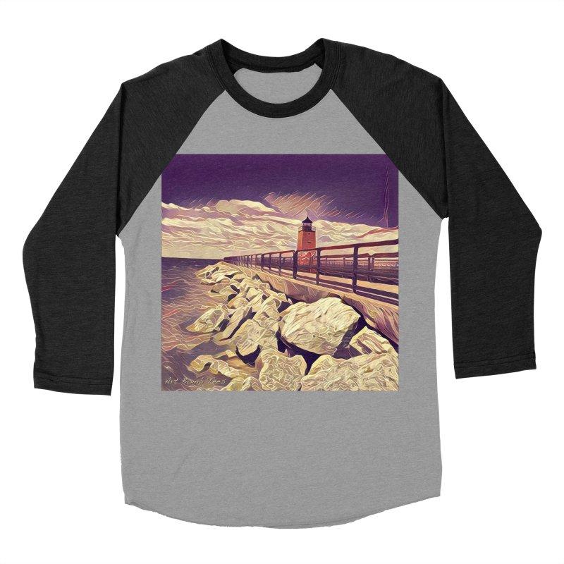 The Lighthouse Men's Baseball Triblend T-Shirt by artbombtees's Artist Shop