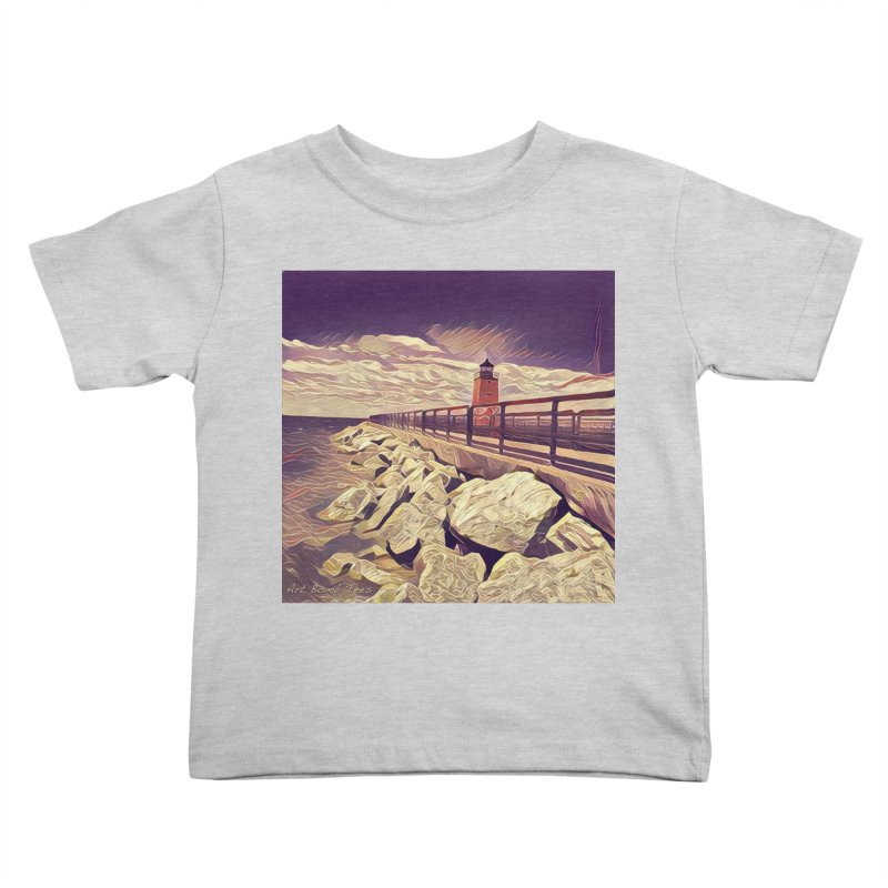 The Lighthouse Kids Toddler T-Shirt by artbombtees's Artist Shop