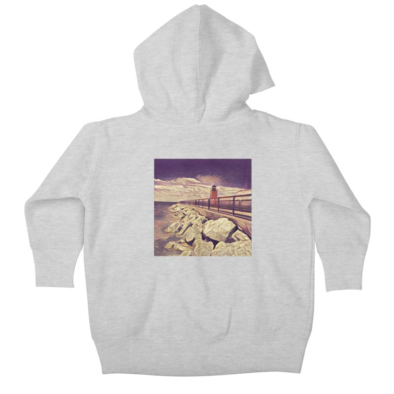 The Lighthouse Kids Baby Zip-Up Hoody by artbombtees's Artist Shop