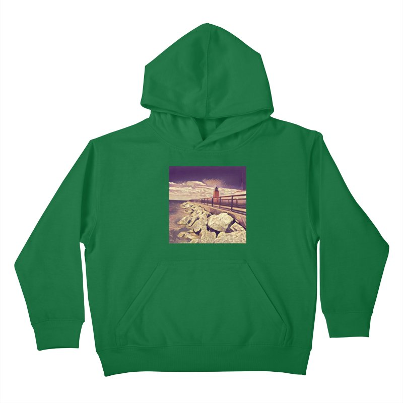 The Lighthouse Kids Pullover Hoody by artbombtees's Artist Shop